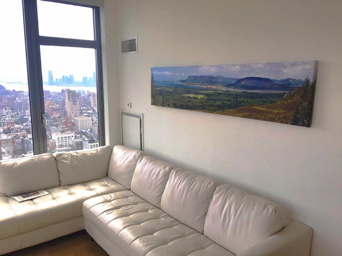 Ciaran McHugh Photography; Beaches & Mountains Panorama hanging in Manhattan