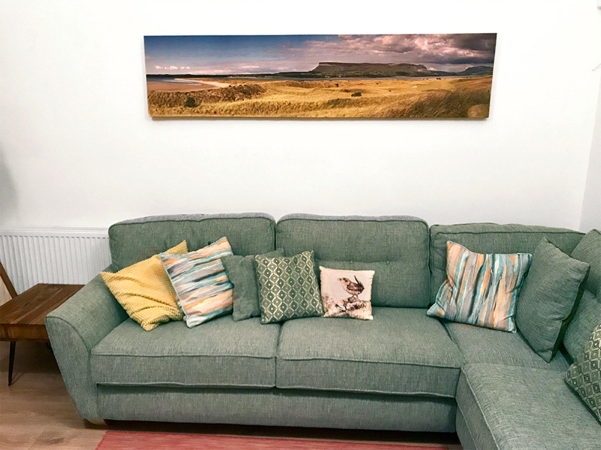 Ciaran McHugh Photography; Benbulben from Rosses Point Panorama printed out 2m