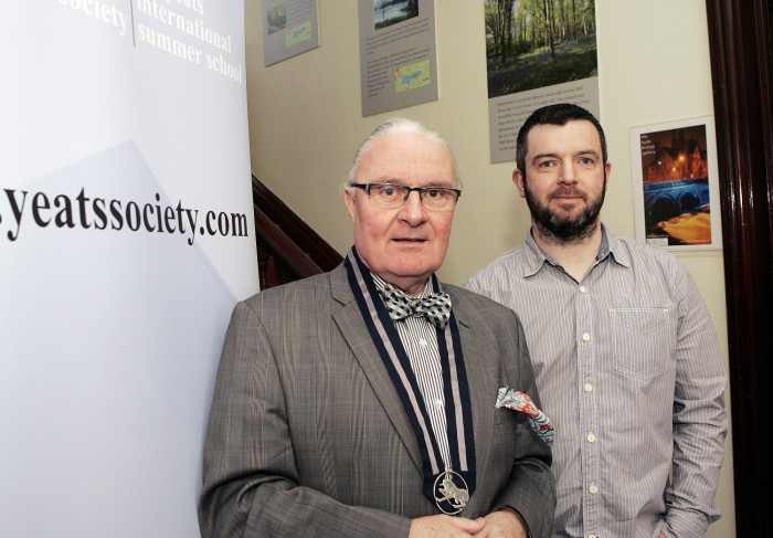 With President of the Yeats Society, Damien Brennan