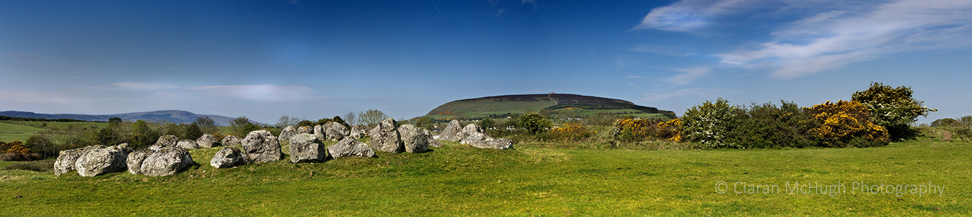 Ciaran McHugh Photography, Sligo: knocknarea from carrowmore